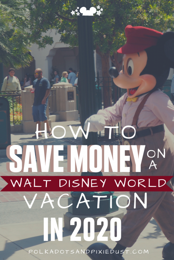 Here's a bunch of NEW WAYS to Save money in 2020 for your Walt Disney World Vacation. With deals popping up all the time, discounted gift cards, following the DVC low price/low crowd calendar and disney's new online tool, check out all the ways to save. #disneyonabudget #disneyvacation #savemoneyatdisney
