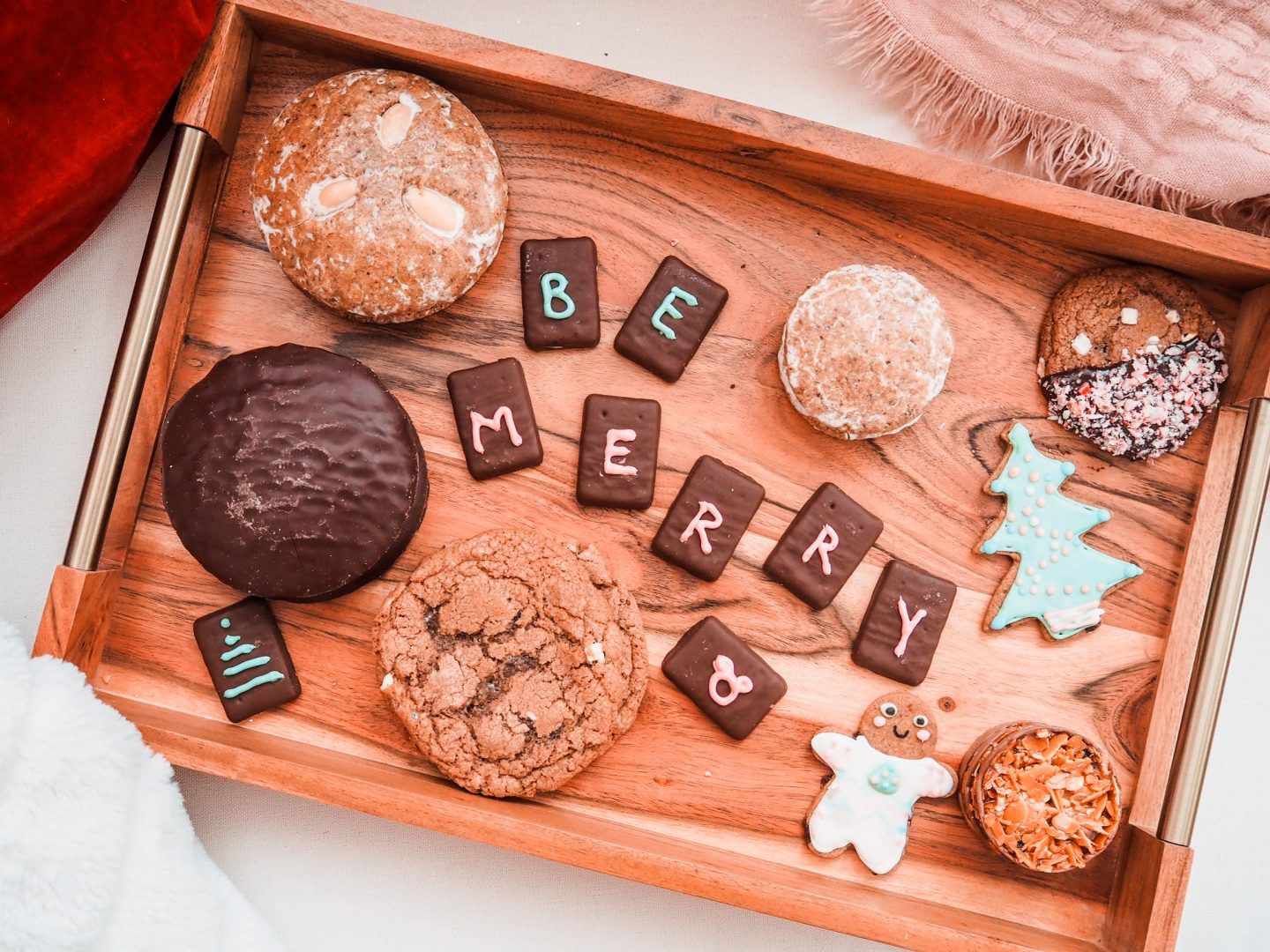 Christmas cookies at Home for the holidyas