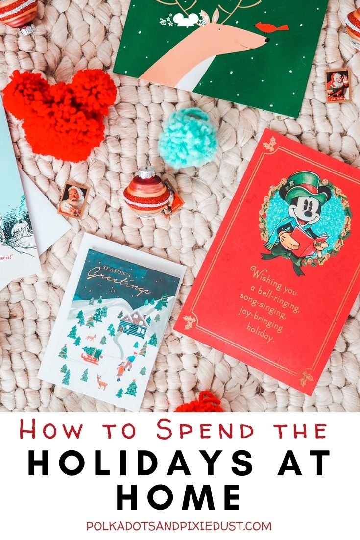 Spending the holidays at Home this year? Here are all of our favorite ways to add a little disney, spend times with family at a distance and fill your Christmas season with joy! #polkadotpixies #disneychristmas