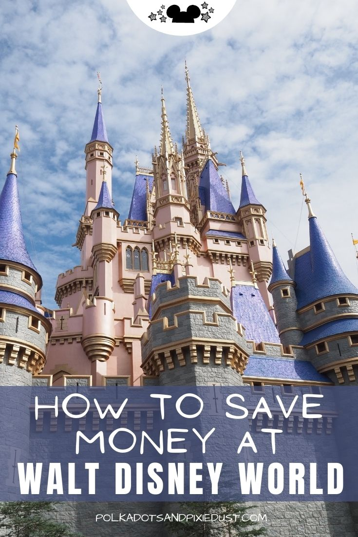 Saving Money at Walt disney World is just about knowing where to look for the deals! Here are all the ways you can save money at Disney World on your vacation, and in the parks. #polkadotpixies #disney2021
