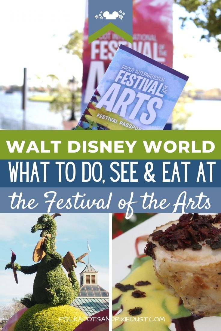 Get to know Festival of the Arts at Walt Disney World! From food studios to the Figment game, to the classes and performances, here are all the questions answered and the Basic Festival of the Arts CHECKLIST to get you through this years festival! #disneyworld #artfulepcot #polkadotpixies