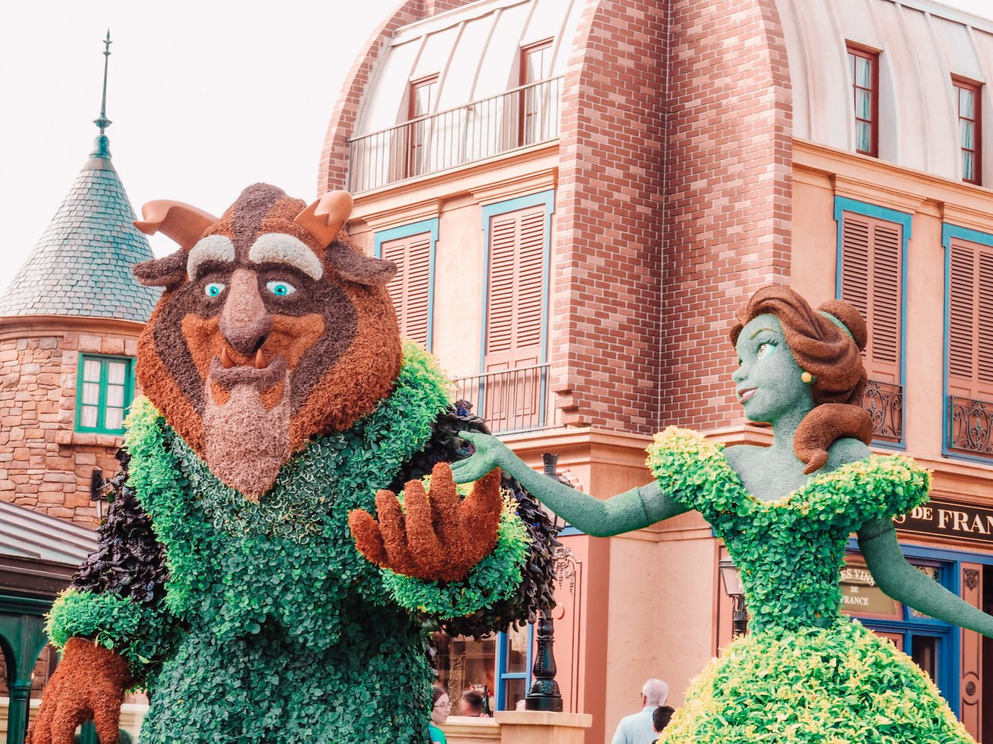 Beauty and the Beast Topiaries