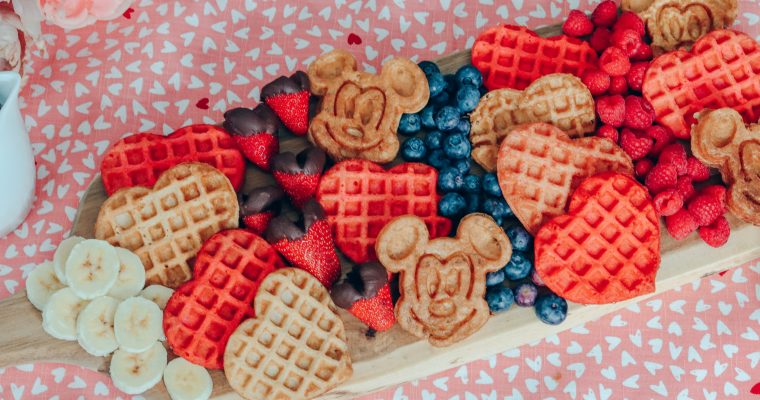 Valentine's Day Mickey Waffle Brunch Board