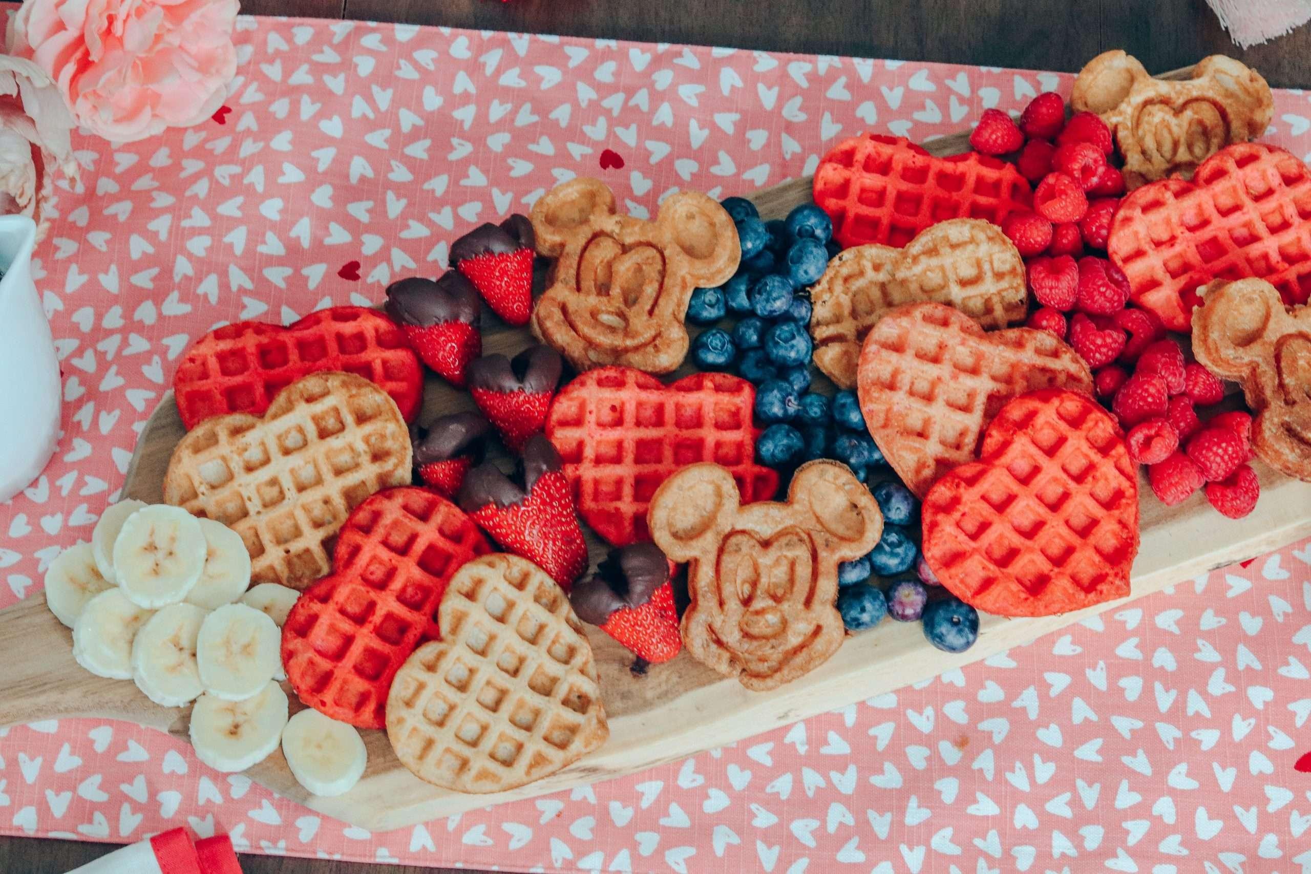 Valentine's Day Mickey Waffle Brunch Board