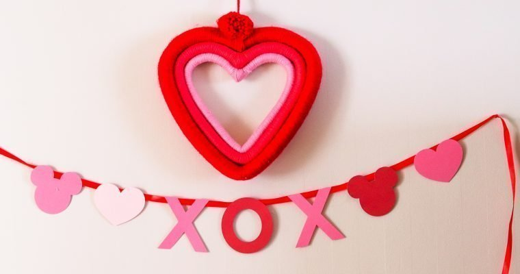 Disney Valentine's Day DIY Crafts and Decor
