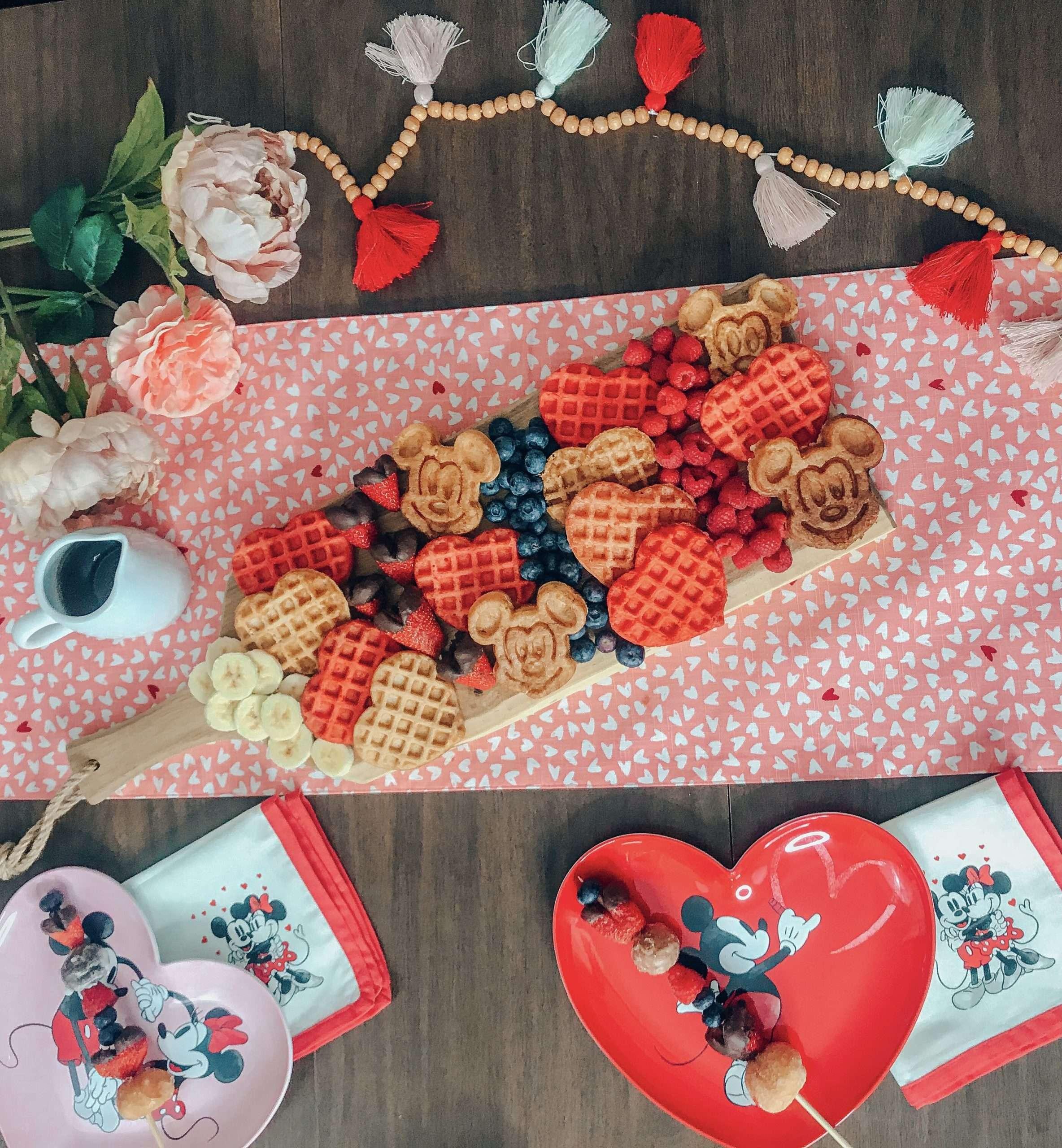 Valentine's Day Waffle Board