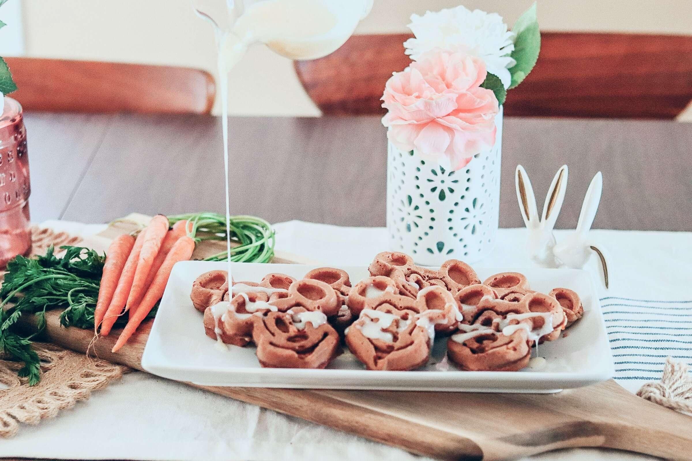 Carrot Cake Mickey Waffle