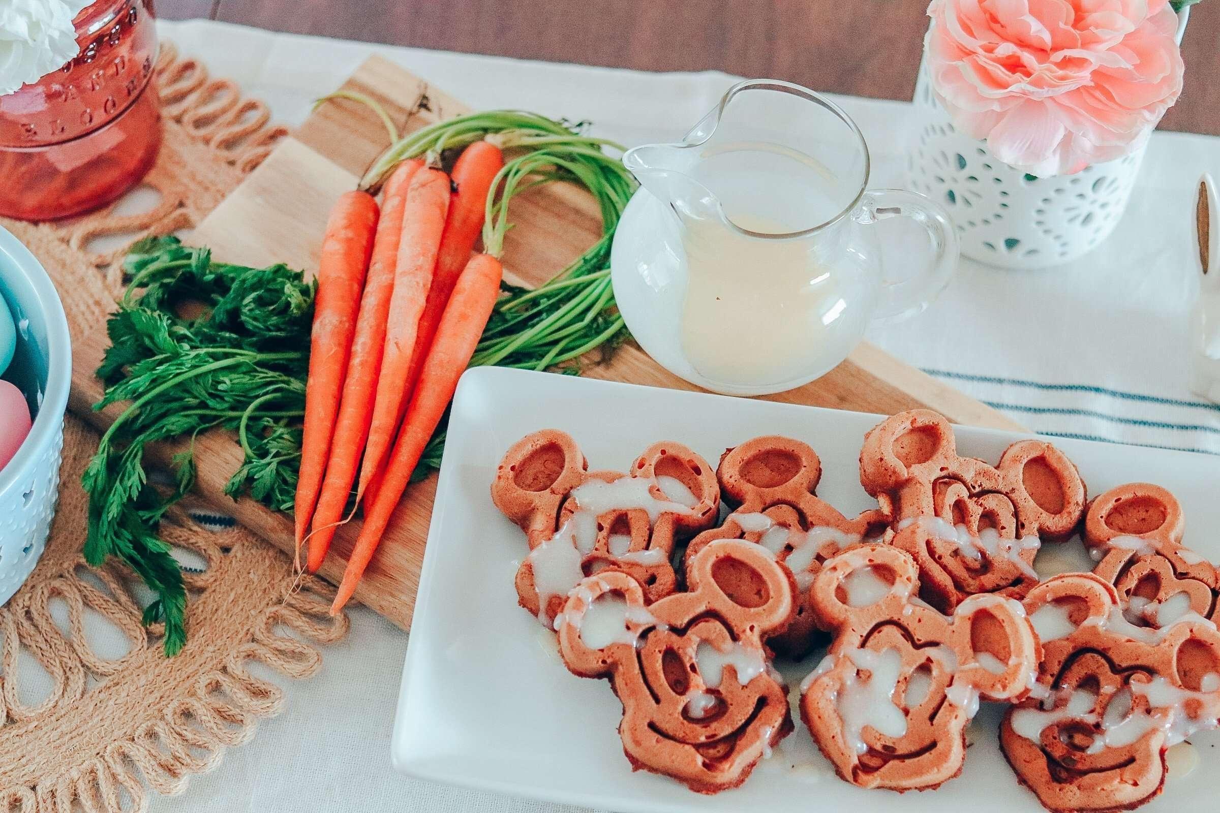 Carrot Cake Mickey Waffles
