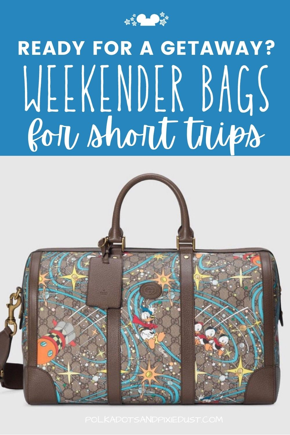 Weekender Bags for your Disney Vacation or Wizarding World Vacation. #disneyvacation #