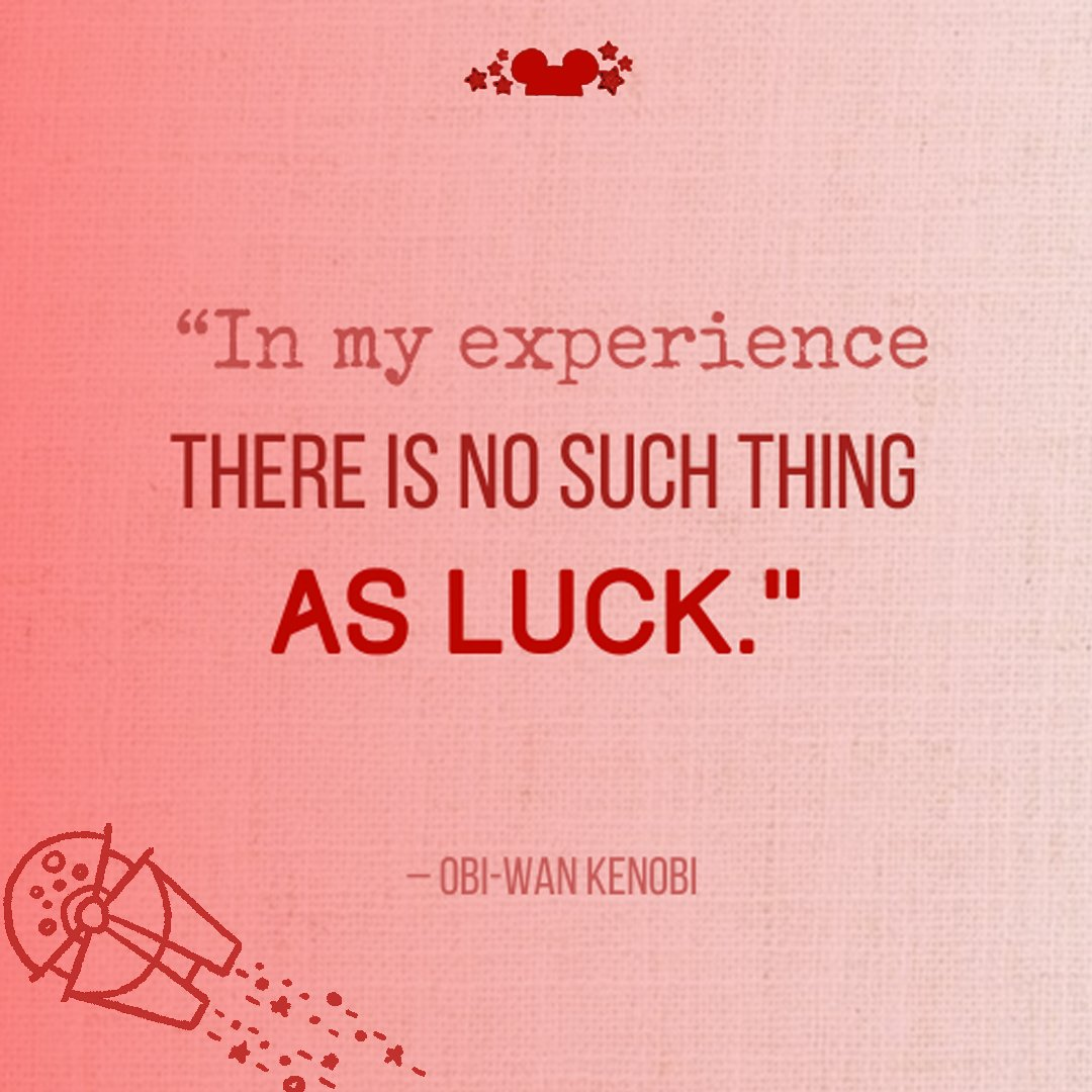 In My experience ther e is no such thing as luck