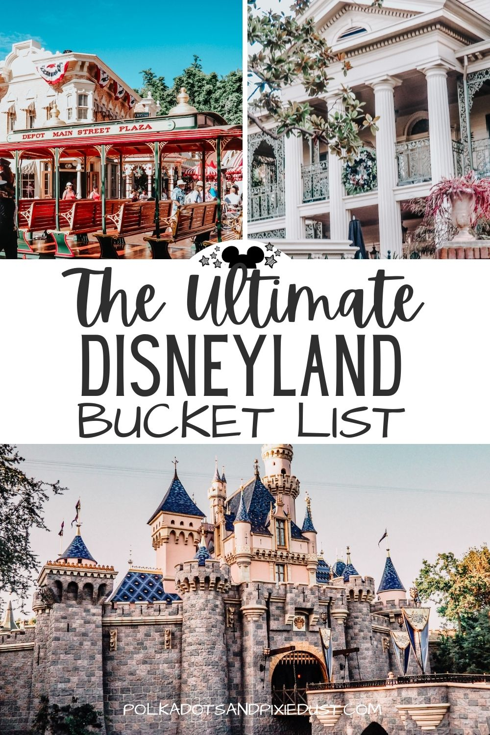 Head to Disneyland and California with this Bucket List in hand to make sure you ride all the rides, eat the best foods, and experience EVERYTHING these Disney Parks have to offer. #polkadotpixies #disneyland #californiaacventure