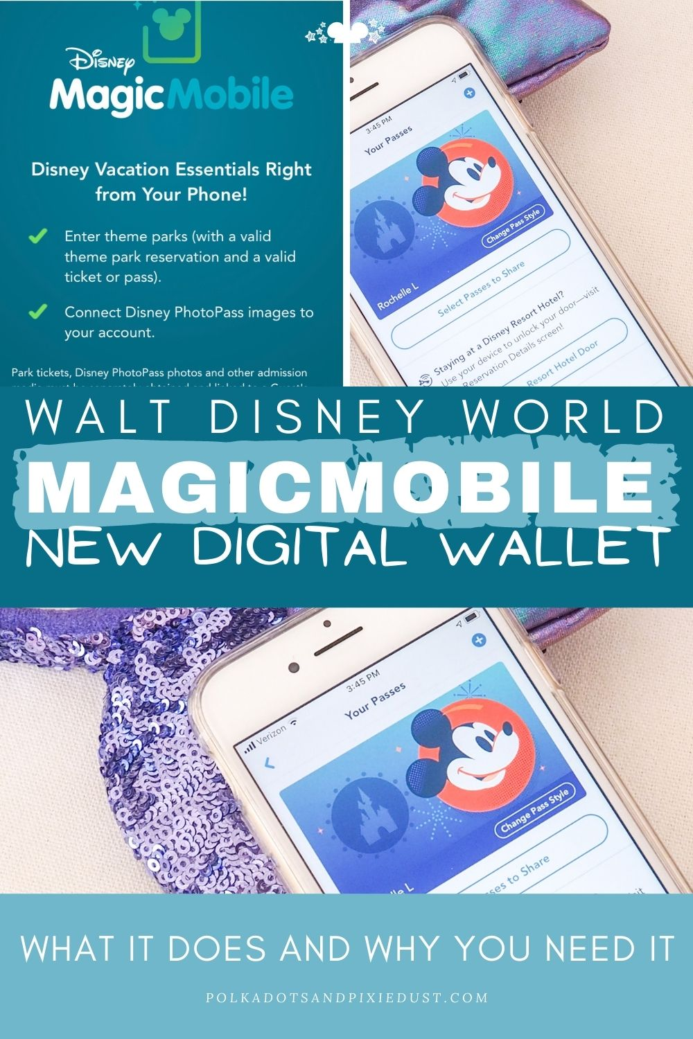 Walt Disney World MagicMobile Service has arrived! Here's everything to know about this new digital wallet. #polkadotpixies