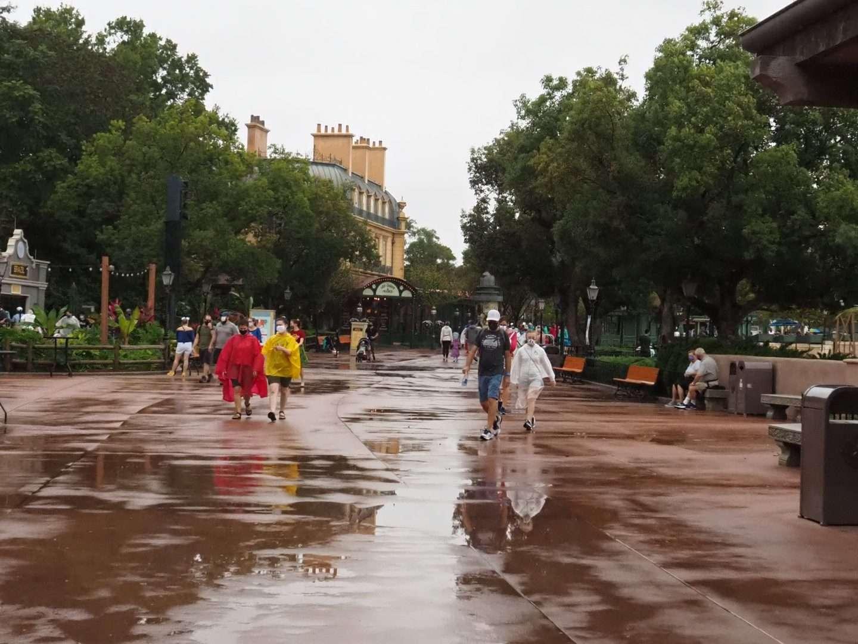 Disney in the rain