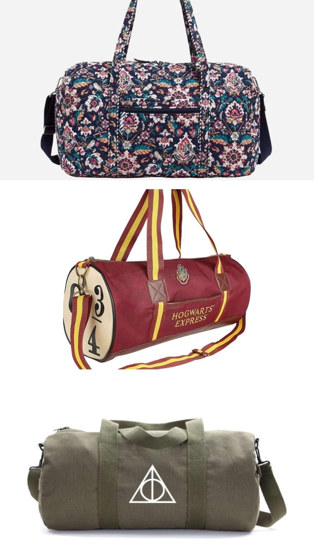 Harry Potter weekender bag, harry potter bag, magical weekender bag, fandom weekender bag