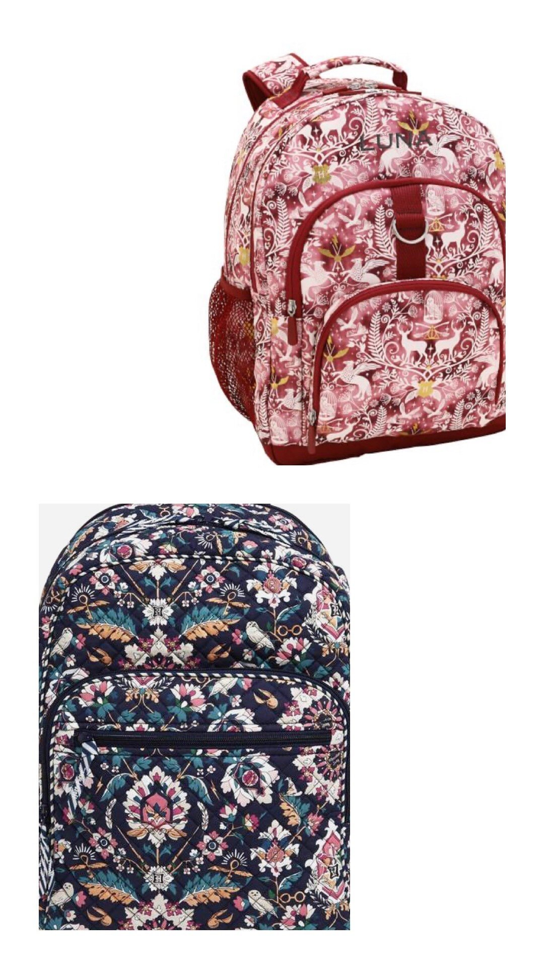 Harry Potter backpack, harry potter magical weekender bag, harry potter bag, harry poter trip