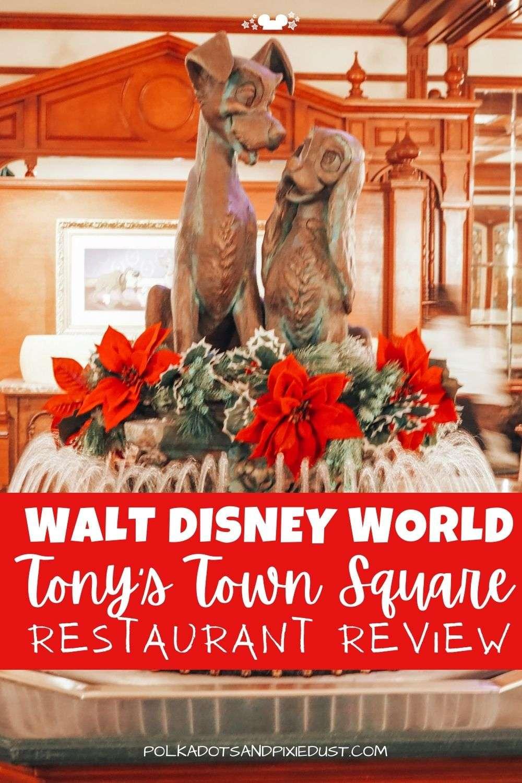 Tony's Town Square Restaurant in Magic Kingdom. #polkadotpixies