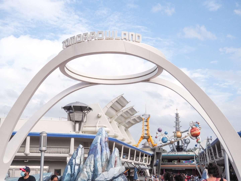 Tomorrowland Entrance Sign