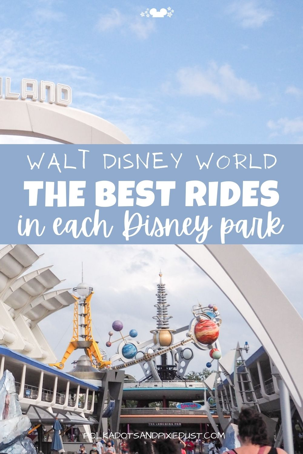Walt Disney World Parks are filled with rides, attractions, shows and more! So how can you possible choose what is worth your valuable Disney time? Check out the post for our TOP Rides in each Disney Park and why we recommend them! Plus height requirements, ride category and whether it's worth your fast pass! #disneyvacation #disneytips #polkadotpixies