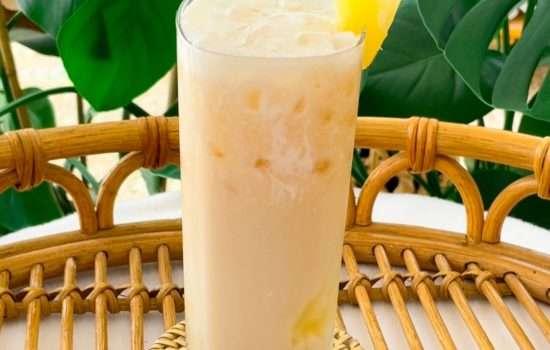 A Dole Whip Tea Latte Disney Drink Recipe