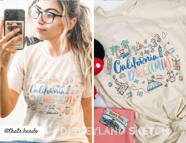 California Dreamin Disneyland Sketch Design