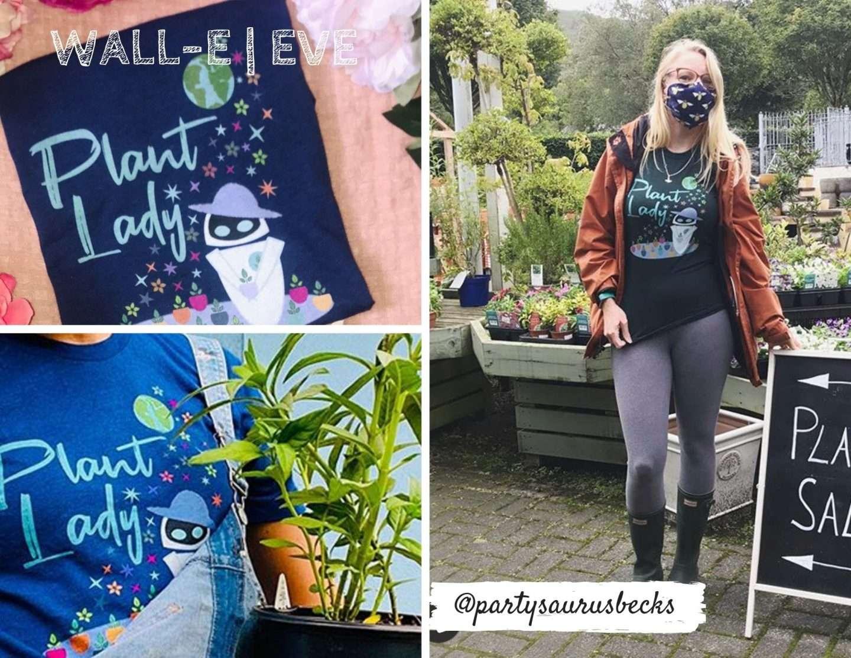 Eve Plant Lady Wall-E shirt