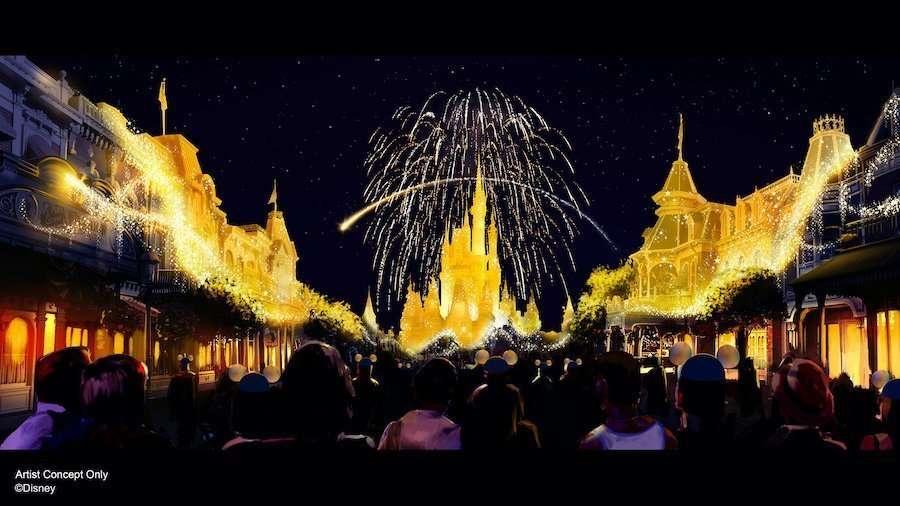 New Magic Kingdom 50th Anniversary Fireworks
