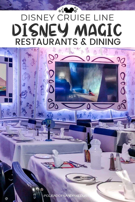 Disney Magic Cruise Restaurants and Dining on Board! #polkadotpixies