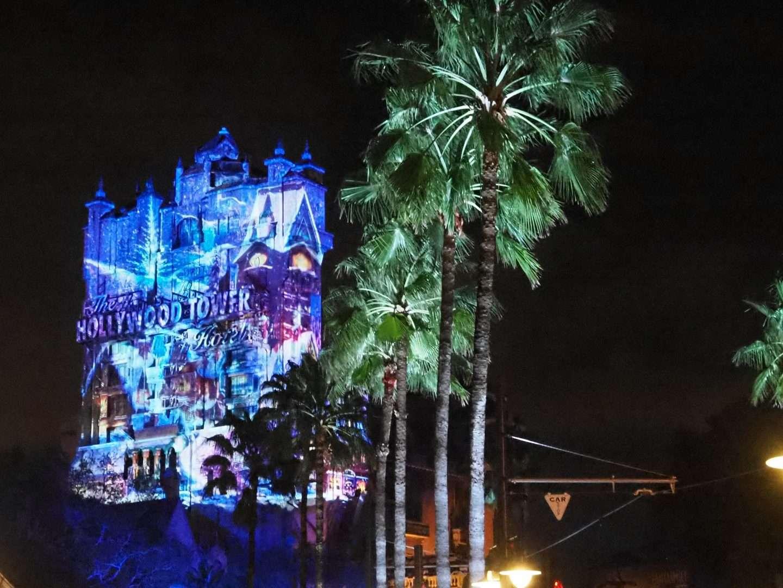 Disney Tower of Terror at Chrismtas