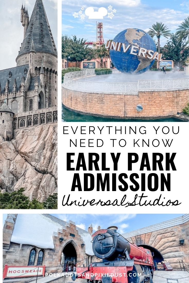How to Make the Most of Early Park Admission. When to Go, what to do and how to avoid the crowds! #universalstudios #themeparks #polkadotpixies
