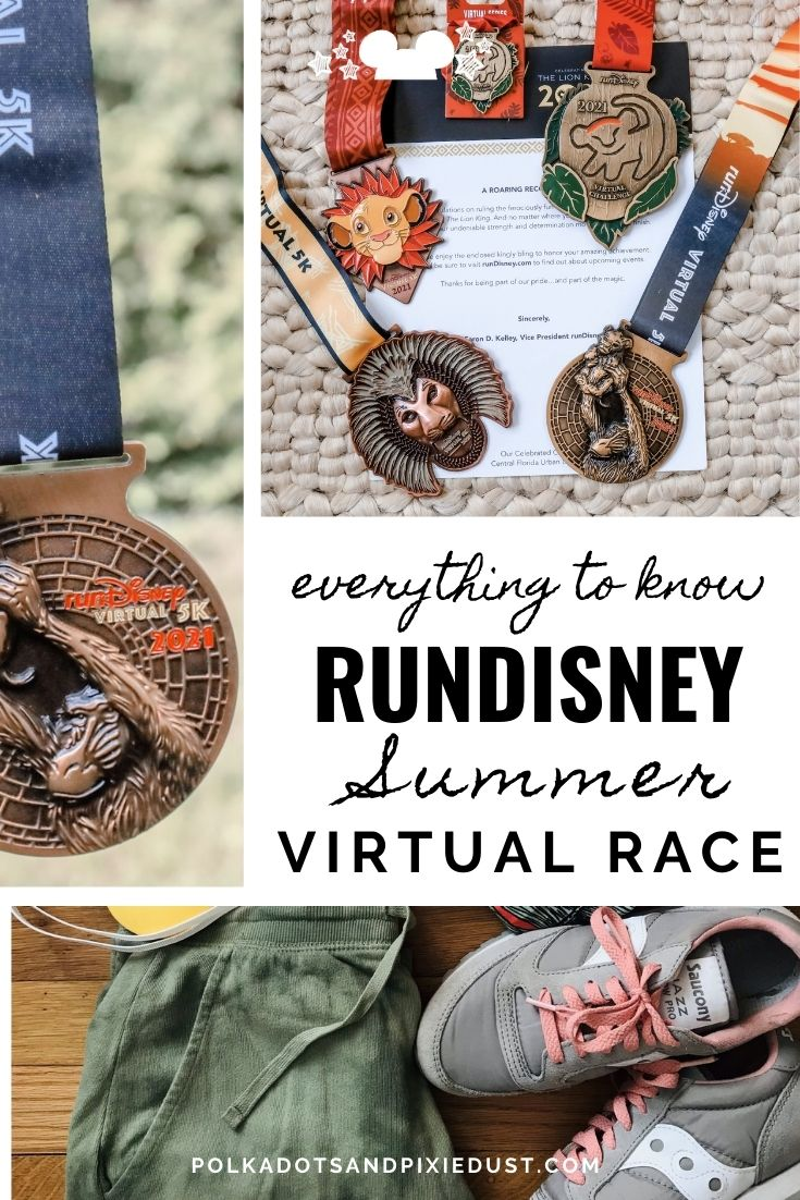 What to know about the runDisney Virtual races, medlas, race, details.