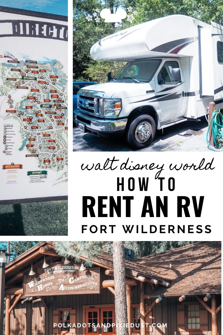 How to Rent an RV for a Disney Vacation. Amentities, Free Parking, Disney Perks and more. #polkadotpixies #disneyvacation