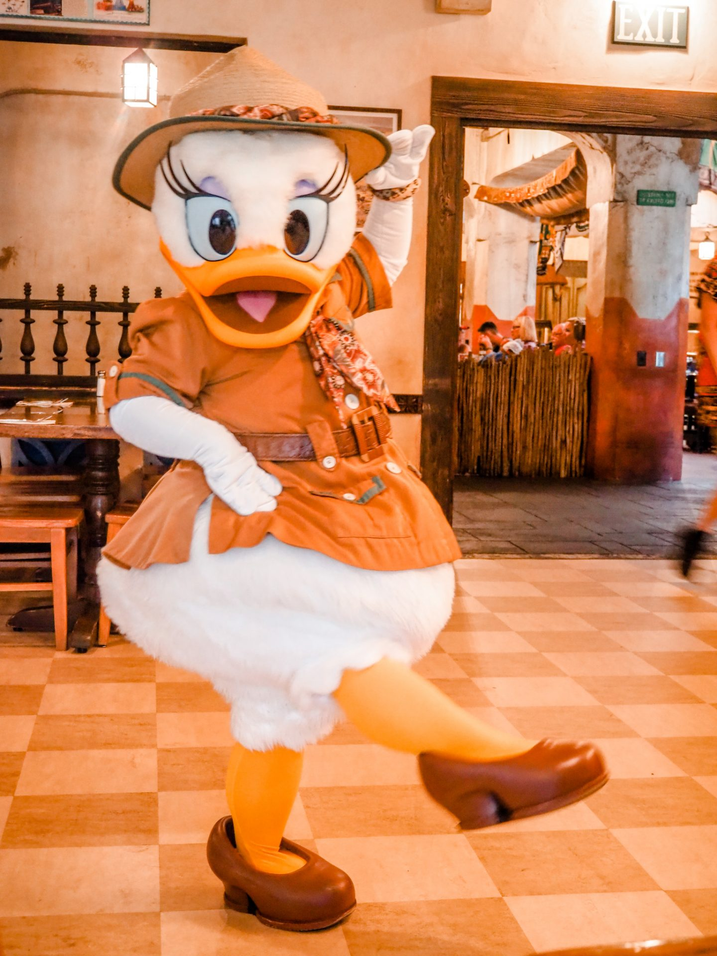 Daisy Duck at Tusker House
