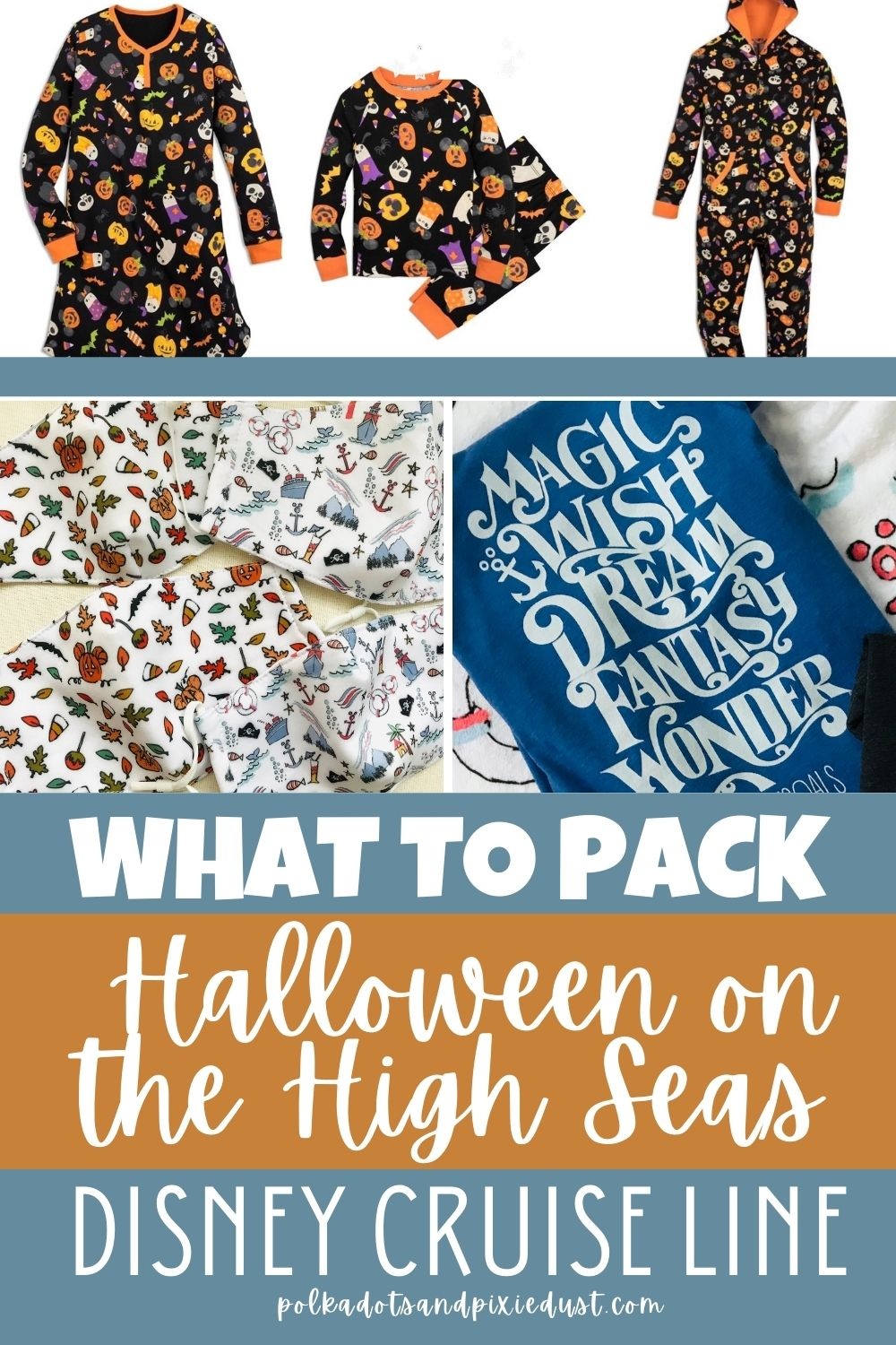 Taking a Halloween on the High Seas Disney Halloween Cruise means packing a variety of things both fun and festive! #disneyhalloween #disneycruise #polkadotpixies