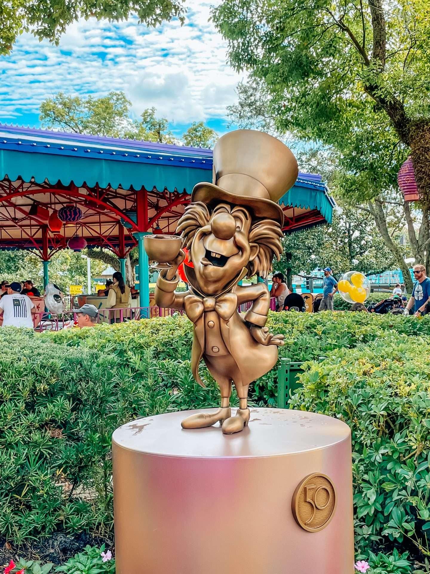 50th Anniversary Disney Statues at Magic Kingdom