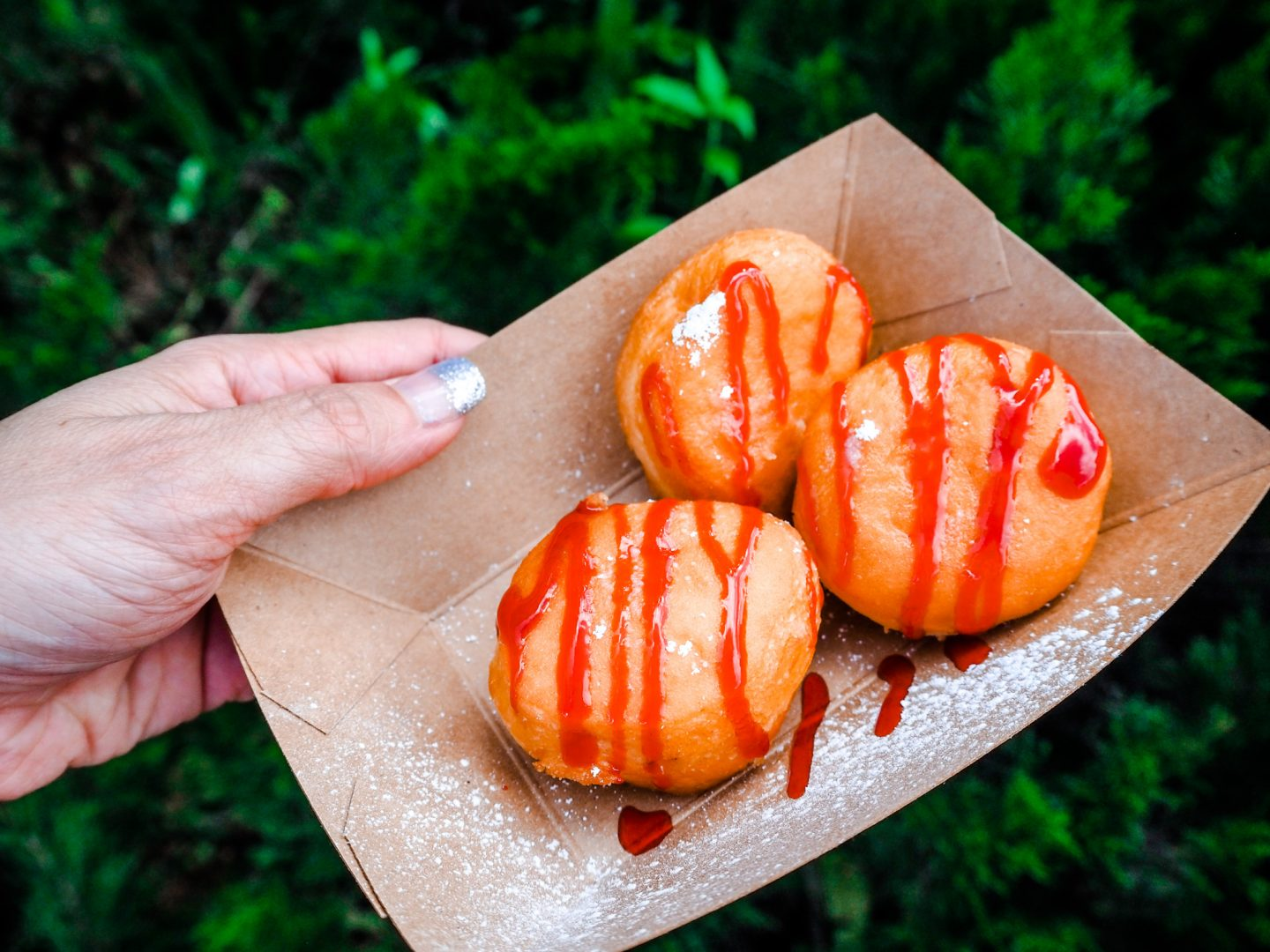 Bomboloni at Italy Booth Food and wine